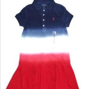 Ralph Lauren Polo Girls Dip Dye Polo Dress